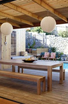 27 Photos of Beauteous Outdoor Lamps Interiordesignsho… Modern outdoor dining … - All For House İdeas Outdoor Rooms, Outdoor Dining, Outdoor Furniture Sets, Outdoor Decor, Outdoor Lamps, Outdoor Ideas, Pergola Ideas, Outdoor Seating, Outdoor Patios