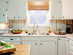 do it yourself diy kitchen backsplash ideas hgtv from Diy Backsplash Kitchen – Top Trends Cheap Kitchen Backsplash, Kitchen Backplash, Wood Backsplash, Kitchen Tiles, Diy Kitchen, Kitchen Decor, Kitchen Design, Kitchen Cabinets, Herringbone Backsplash