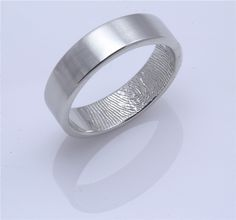 Custom Fingerprint Wedding band with single by fabuluster on Etsy