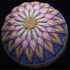 """Temari or """"hand ball"""" are embroidered balls that may be used in hand ball games, Japanese"""