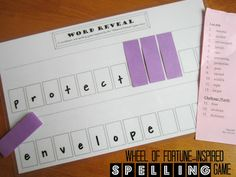 Turn spelling practice into a Wheel of Fortune-inspired game!
