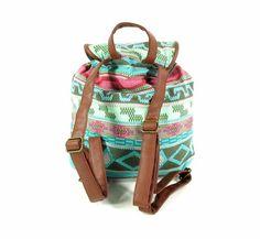 Adventure Bags  Rugzak - Aztec - Blauw/Roze