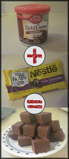 At Home With Nicole: 2 Ingredient, Microwave Fudge Fudge Recipes, Candy Recipes, Sweet Recipes, Dessert Recipes, Fudge Icing Recipe, Simple Fudge Recipe, Home Made Fudge Recipe, Brunch Recipes, 2 Ingredient Fudge
