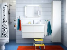 GODMORGON High cabinet, white | Armoires, Small bathroom and ...