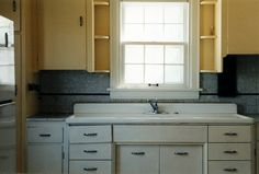 1950's Sink - I'd love to have one of these sinks with the metal cabinets too!