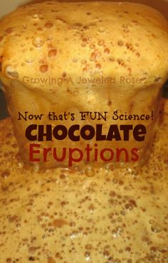 Make your own fizzing chocolate fountain with chocolate eruptions- the ultimate Science FUN!