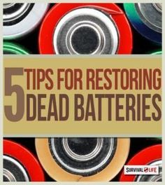 Bring Dead Ni-Cad Batteries Back to Life - Prepper Skills | DIY Project Every Preppers & Survivalist Should Know By Survival Life http://survivallife.com/2014/10/30/dead-ni-cad-batteries-to-life/