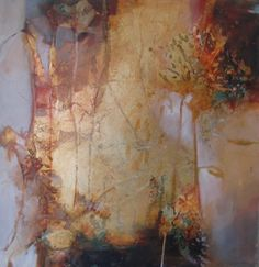 """Joan Fullerton Paintings: Abstract Mixed Media Painting """"CIRCADIAN POETRY"""" by Intuitive Artist Joan Fullerton"""