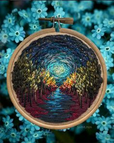Embroidered Paintings by Vera Shimunia