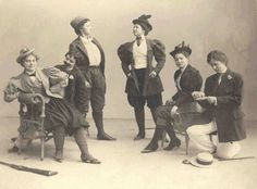 Victorian women in drag...this makes me smile :-)