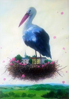 Nest, Stork, Austria Unterrabnitz, 2014 work