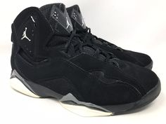 d2ba0b3fbd0f45 Details about Nike Air Jordan True Flight Black Basketball Shoes Mens Sz 9 US  342964-010