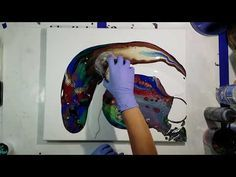 2 Acrylic pours with Tri Art Liquid Glass Pouring Medium - YouTube