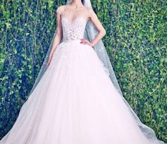 Beautiful elegant wedding dress with unique sequence