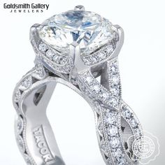 """Get """"Royal T"""" treatment this weekend at our Tacori Trunk Show & """"Best of Bridal"""" Event! 500 Tacori rings are being flown in from LA for YOU to try on!  **Ask how you can get up to $700 off your purchase** Join the top bridal vendors THIS Saturday from 10am-6pm as we host the """"Best of Bridal"""" Bridal Fair!  Giveaways   Samples   Priority Booking   VIP Treatment #ribbon #royalt #tacori #designer #engagement #ring #platinum #round #diamond #goldsmithgalleryjewelers #billings #montana"""