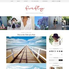 Firefly WordPress Customisable Fully Responsive Blog Template By Pipdig  (WordPress Migration Available)   Bold