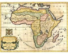 A New Map of Africa (1718), by Edward Wells (1667-1727).