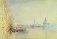 """Joseph Mallord William Turner Venice: """"The Mouth of The Grand Canal"""" ca. 1840 Yale Center for British Art New Heaven CT USA Joseph Mallord William Turner, Watercolor Landscape, Landscape Paintings, Watercolor Basic, Modern Paintings, Watercolor Sketch, Art Romantique, Turner Watercolors, Turner Painting"""