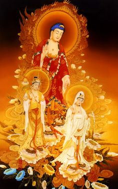 In Buddhism, compassion is embodied in the bodhisattva Guanyin (Kuan Yin) who is said to manifest wherever beings need help. The Hearer of Cries. Posted by Sifu Derek Frearson. Buddha Temple, Buddha Art, Amitabha Buddha, Spiritual Paintings, Tibetan Art, Divine Mother, Chinese Buddhism, Guanyin, Gods And Goddesses