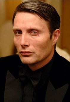Mads as the greedy Le Chiffre in James Bond movie Casino Royale.  The man with the bleeding eye.  Avarice, one of the seven deadly sins...