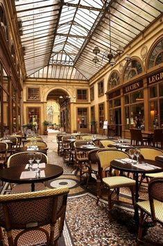 Le Bistrot Vivienne in the Galerie Vivienne (close to the Garden du Palais Royal and passage Choiseul)- Paris Restaurants In Paris, Paris Travel, France Travel, Mykonos, Santorini, Paris France, Galerie Vivienne, Restaurant Hotel, Parisian Cafe