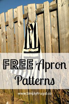 Looking to sew a spiffy new apron?  Check out this great list of free apron patterns!