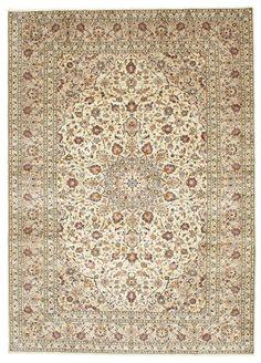 A Keshan (Persian/Iran) Hand knotted, 9 mm thkns,  252 x 355 cm, Wool piile/Cotton warp. New. 160K knots/m2. CarpetVista/EHZA6