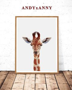 So many kids would LOVE this in their room!  Downloadable and affordable Print. | #home | #decor | #design | #giraffe | #affiliate