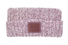 Burgundy Speckled Leather Patched Cuffed Beanie – Love Your Melon