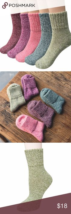 Womens 5 Pairs Vintage Style Thick Crew Socks Color: As showned (mixed colors). Photos are taken under bright sunlight, colors may look darker indoors. - Adjust halter, bow straps - Material: 35% wool + 29% cotton + 36% polyester. - Cute standard winter socks that will make your feet pop! - Each pack of our women's vintage socks includes five pairs with a different combination of colors. - These wool socks feature stylish patterns and vibrant colors that will put a fun finishing touch on…