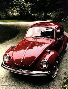 Phoenix, Arizona Rental car is a red VW Beetle, but I wish is was the old style!