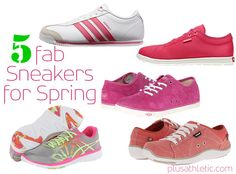 Hooray for the Sneaker Trend - 5 Fab Sneakers for Spring - that all happen to be pink!