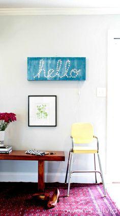 owens olivia: DIY Illuminated Hello Sign || tutorial