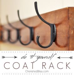 Diy Coat Rack Tutorial