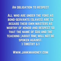 AN OBLIGATION TO RESPECT