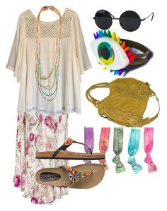 """""""Hippie (cassidy)"""" by daenerysmofdragons ❤ liked on Polyvore featuring Haute Hippie, Pura Vida, Coconuts and Wicked Hippie"""