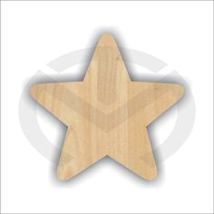 Unfinished Wood Star Laser Cutout Wreath Accent Door Hanger Ready to Paint & Personalize Various Sizes