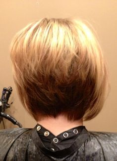 Short razor cut with blonde lowlights and highlights