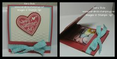 Stampin' with Sara- Valentine Treat Holder, Directions on Blog. Stampin' Up! Valentine Bundle