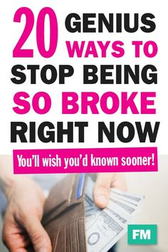 20 Smart Ways to Stop Being Broke Right Now - Finance tips, saving money, budgeting planner Ways To Save Money, Money Tips, Money Saving Tips, Cost Saving, Savings Planner, Budget Planner, Budgeting Worksheets, Budgeting Tips, Personal Finance Articles