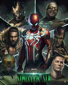 Plot unknown. Feature film based on the Marvel Comics series about a team of supervillians. Coming soon. #Spider_Man #Sinister_Six Marvel Comic Universe, Marvel Art, Marvel Heroes, Marvel Characters, Spiderman Movie, Amazing Spiderman, Spiderman Marvel, The Sinister Six, Sinister Marvel