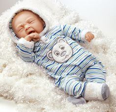 "Looking for Realistic Baby Boy Dolls? Check out on If I Were a Polar Bear! He's the Baby Boy you've always wanted! He has a weighted body for a ""Real"" baby feel!"