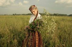 Beautiful Europeans — Latvian girl in traditional clothes