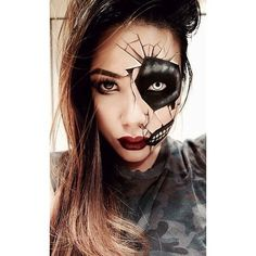 You can always go the sexy route for your Halloween costume, but why not really go for bold in the makeup department and get spooky? Doll yourself up like a cracked porcelain figurine and embrace a daring, borderline scary look with your makeup. The haunting costume is feminine yet ghoulish, and will definitely be a hit this Halloween.: