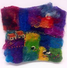 Handmade felt / needle felt / stitch