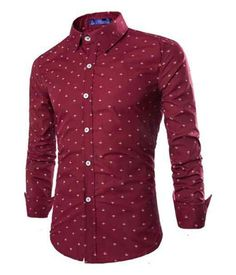 In top: All-Over Anchor Tailored Fit Shirt Red #mensshirt #mensfashion