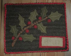 Here are a few appliques I made for a customer. They are my own design except for the Holly one, it was adapted from a Needl Love book ...
