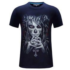 d7048bad7aa 2016 summer Men s brand clothing O-Neck short sleeve animal T-shirt gas  monkey lion Digital Printed T shirt Homme large size