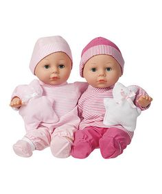 Might be a cool gift for Violet once the twins are born...  Lovable Twins Doll Set #zulilyfinds