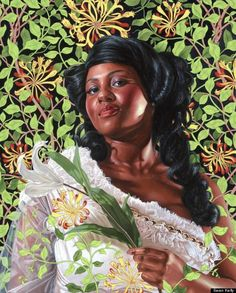 Dacia Carter by Kehinde Wiley  http://www.huffingtonpost.com/2012/05/12/kehinde-wiley-on-his-econ_n_1497849.html#